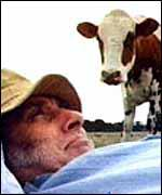 Spike Milligan (and cow)