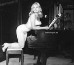 Sabrina with piano and music