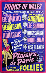 Pleasures of Paris, London poster