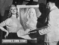 Sabrina has her portrait painted 1957