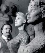 Sabrina and her statue by Assen Peikov 1958
