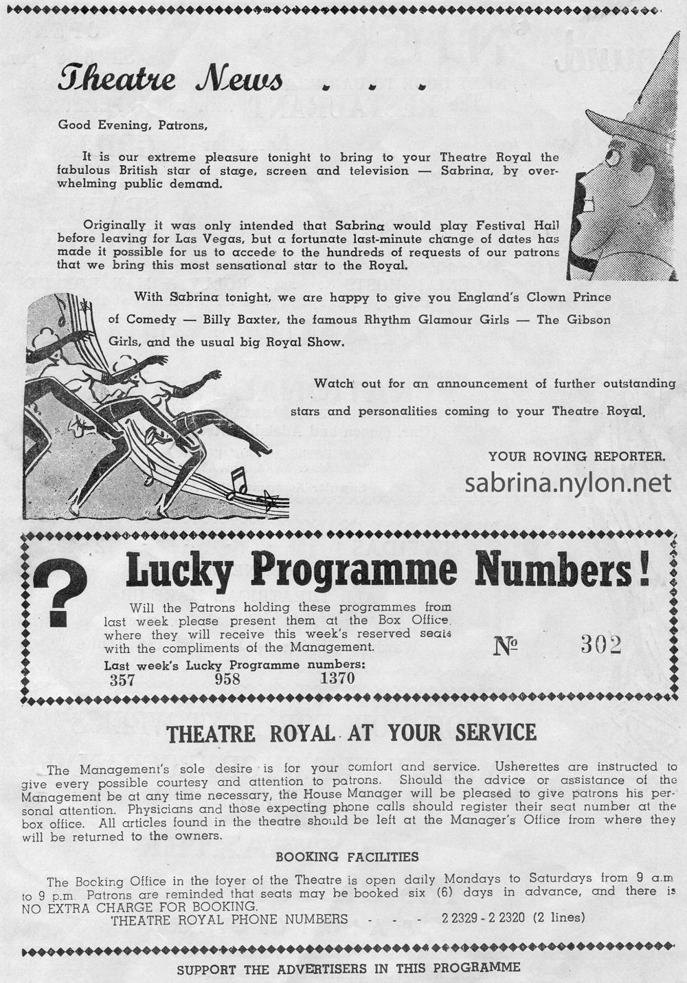 The Sabrina Show (Brisbane 1959)